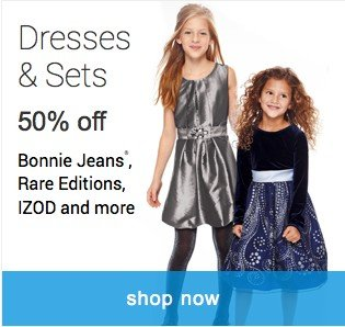 Dresses and Sets 50% off. Shop dresses and sets.