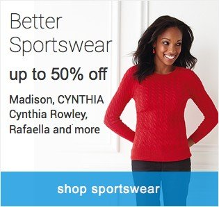 Better Sportswear. Up to 50% off. Shop sportswear.