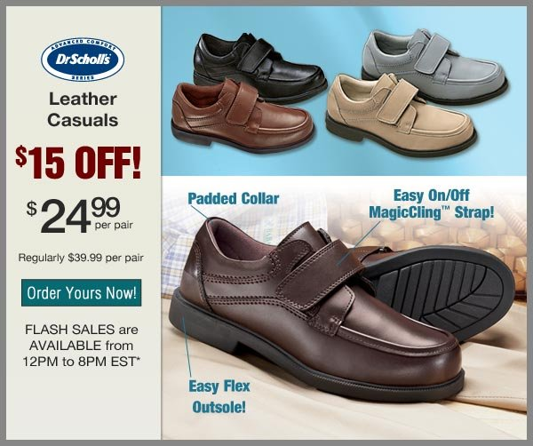 $15 OFF Leather Casuals