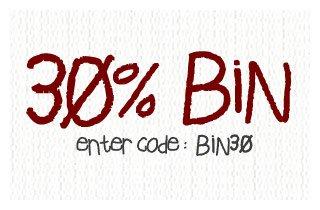 30% Off BIN