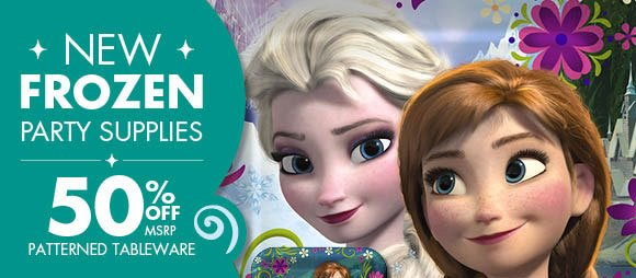NEW FROZEN PARTY SUPPLIES