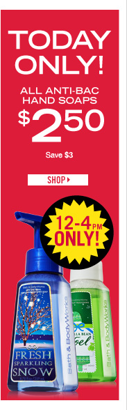 Anti-Bac Hand Soap – $2.50