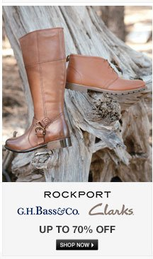 Rockport, Bass and Clarks