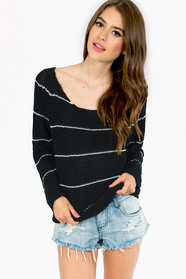 Striping Resemblance Knit Sweater 39
