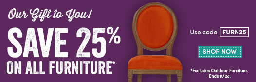 Save Up To 25% ALL Furniture