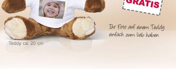 FOTO-TEDDY: Das perfekte Geschenk. Ihr Foto auf einem Teddy - einfach zum Liebhaben
