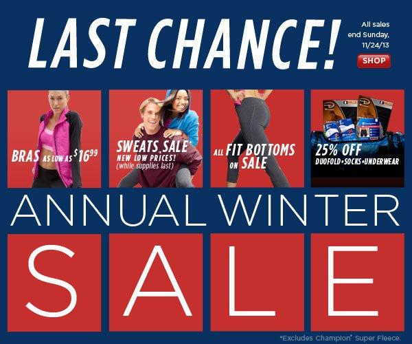 SHOP Annual Winter Sale