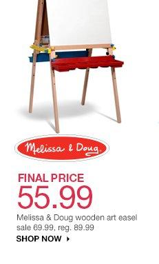 FINAL PRICE 55.99 Melissa & Doug wooden art easel. sale 69.99, reg. 89.99. shop now