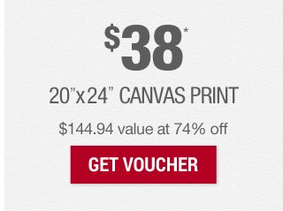 $38 Canvas at 74% off