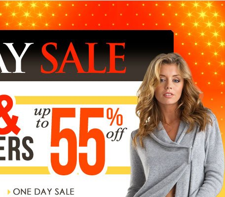 One Day Sale - Up to 55% OFF Tops & Sweaters! SHOP One Day Sale!