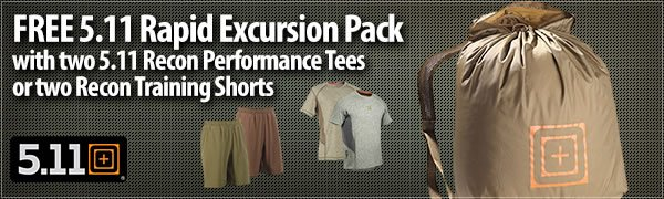 Free 5.11 Rapid Excursion Pack