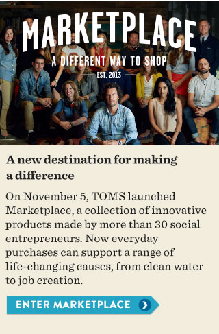 A new destination for making a difference. Enter Marketplace