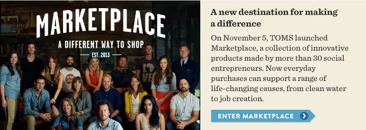 A new destination for making a difference - Enter Marketplace