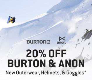 20% Off New Burton & Anon