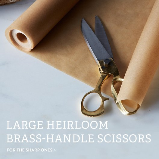 Brass-Handle Scissors