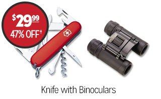 Knife with Binoculars - $29.99 - 47% off‡