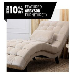 Extra 10% off Featured Abbyson Furniture**