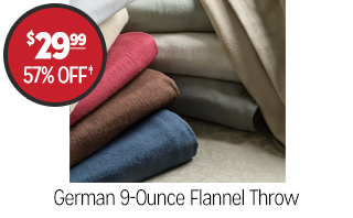 German 9-Ounce Flannel Throw - $29.99 - 57% off‡