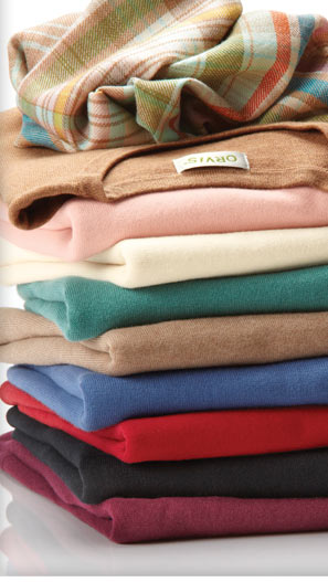 Stay warm this season in our wonderfully soft and colorful Cotton/Cashmere Sweaters.