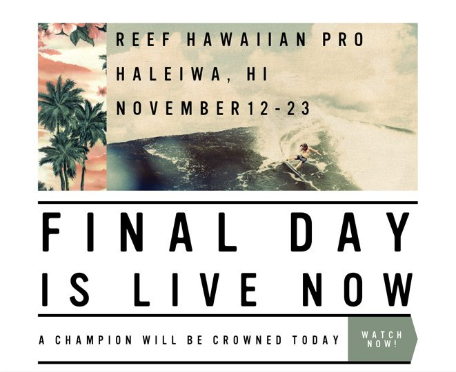 2013 Reef The 2013 Reef Hawaiian Pro is LIVE Pro
