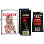 Zippo 1211 Classic Brushed Chrome Playboy Cover November 1994 Windproof Lighter with Two Flint Card and One Wick Card