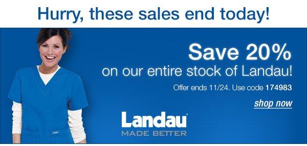 Save 20% on Landau