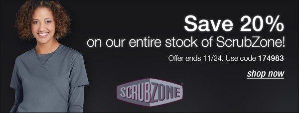 Save 20% on ScrubZone