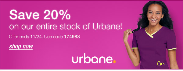 Save 20% on Urbane