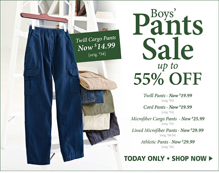 Pants Sale - up to 55% off!