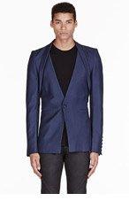 GARETH PUGH Blue shawl collar jacket for men