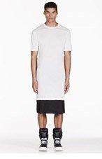 RICK OWENS White LEVEL T t-shirt for men