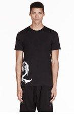 MCQ ALEXANDER MCQUEEN Black paint brush logo t-shirt for men