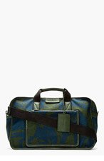 MARC BY MARC JACOBS Blue camo YES WE CAN BOXY DUFFLE for men