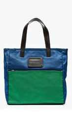 MARC BY MARC JACOBS Blue & green nylon TAKE ME TOTE for men