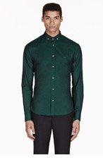MCQ ALEXANDER MCQUEEN Green monogrammed shirt for men