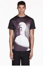 EN NOIR Black ANCIENT WHITE BALL print T-SHIRT for men