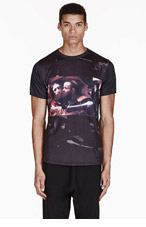 EN NOIR Black JESUS ALL OVER print T-shirt for men