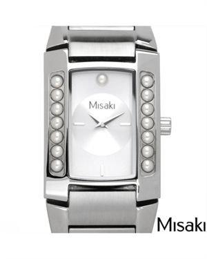 MISAKI Stainless Steel Faux Pearl Women Watch