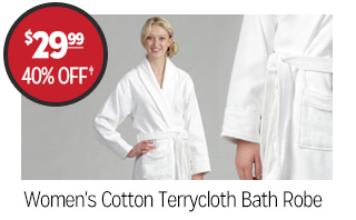 Women's Cotton Terrycloth Bath Robe - $29.99 - 40% off‡