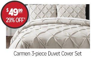 Carmen 3-piece Duvet Cover Set - $49.99 - 29% off‡