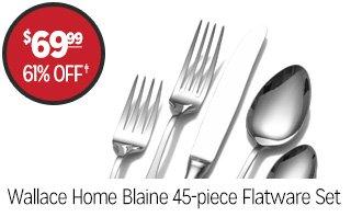 Wallace Home Blaine 45-piece Flatware Set - $69.99 - 61% off‡
