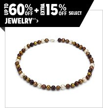 Up to 60% off + Extra 15% off Select Jewelry**