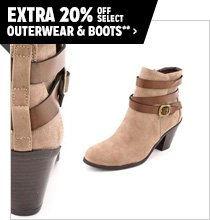 Extra 20% off Select Outerwear & Boots**
