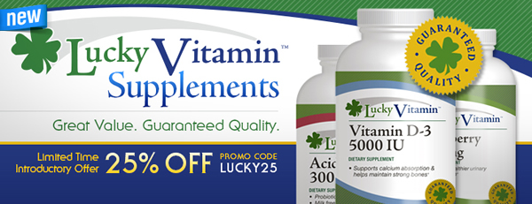 LuckyVitamin Brand Supplements