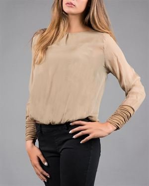 Keysha Basic 100% Silk Blouse Made In Italy