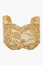 AURÉLIE BIDERMANN Gold Vintage Lace Cuff for women