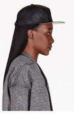 RICK OWENS DRKSHDW Black Mock-Leather Baseball Cap for women