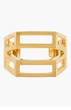 CHLOE Gold Geometric cut out Bianca Cuff for women