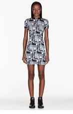 VERSUS White Stretch Jersey Printed M.I.A edition Dress for women
