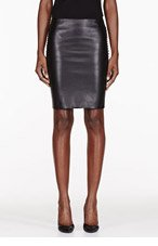 DION LEE Black Leather 3D Filter Mini Skirt for women